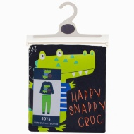 Toddler Cotton Pyjamas - Happy Snappy Croc