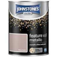 Johnstone's Feature Wall Metallic Paint 1.25L - Rose Gold