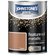 Johnstone's Feature Wall Metallic Paint 1.25L - Copper