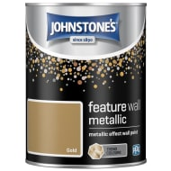 Johnstone's Feature Wall Metallic Paint 1.25L - Gold