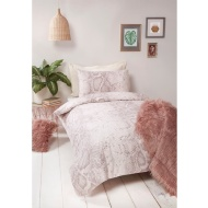 Snake Print Natural Single Duvet Set