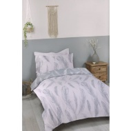 Blush Feather Single Duvet Set