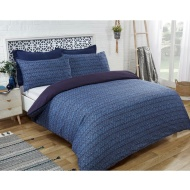 Paisley Twin Pack King Duvet Set - Navy