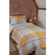 Tara Single Duvet Set - Ochre