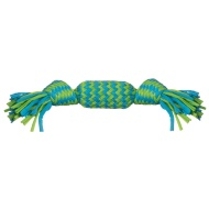 Rope Super Squeezer Dog Toy - Green & Blue