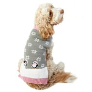 Penguin Christmas Dog Jumper M-XL