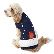 Robin Christmas Dog Jumper M-XL