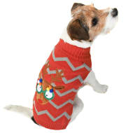 Reindeer Light-Up Christmas Dog Jumper