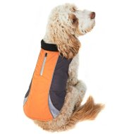 Reflective Dog Coat - Medium - X-Large - Orange
