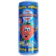 Millions Strawberry Flavour Fizzy Drink 250ml