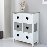 Chloe Heart 6 Drawer Chest