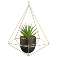 Hanging Geometric Planter with Foliage