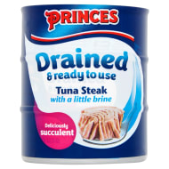Princes Drained Tuna Steak in Brine 3 x 110g