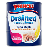 Princes Drained Tuna Steak in Sunflower Oil 3 x 110g