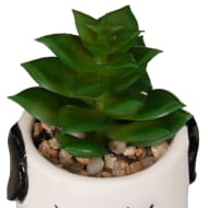 Novelty Dog Planter with Succulents
