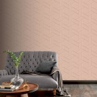 Parquet Geo Pink & Rose Wallpaper