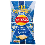 Walkers Cheese & Onion Multipack 6pk