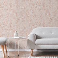 Arlo Texture Grey & Rose Gold Wallpaper