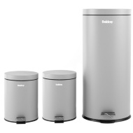 Beldray Pedal Bin Set 3pc - Grey