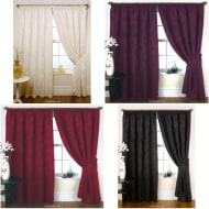 Bordeaux Jacquard Curtain 66 x 72