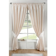 Faux Silk Fully Lined Pencil Pleat Curtains 66 x 72