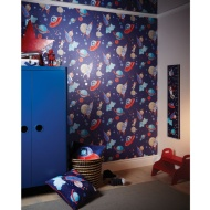 Arthouse Starship Glitter Wallpaper - Blue