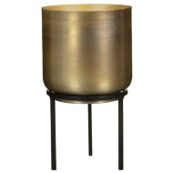 Gold Plant Pot with Metal Legs