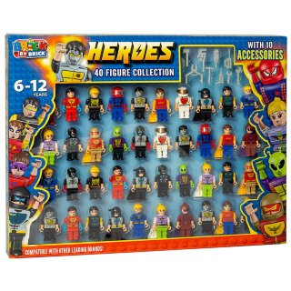 Brick by Brick Heroes Figure Collection 40pk