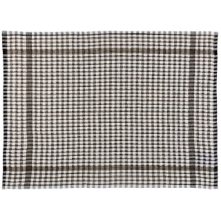 Mono Check Oversized Tea Towels 4pk - Black
