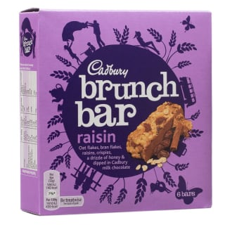 Cadbury Brunch Bar Raisin 6pk