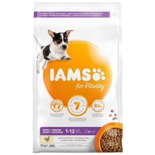 Iams Puppy & Junior Dry Dog Food 3kg - Chicken