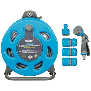 Rolson Hose Reel with Stand 20m - Blue