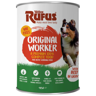 Webbox Rufus Complete Worker Can with Beef in Gravy 415g