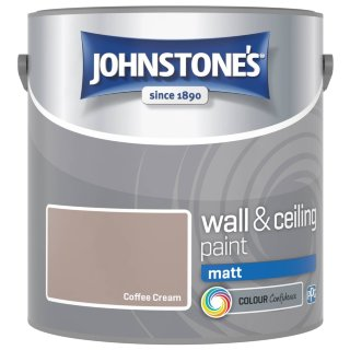 Johnstone's Paint Vinyl Matt Emulsion - Coffee Cream 2.5L