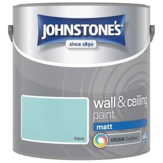 Johnstone's Paint Vinyl Matt Emulsion - Aqua 2.5L