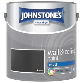 Johnstone's Paint Vinyl Matt Emulsion - Black 2.5L