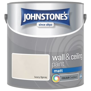 Johnstone's Paint Vinyl Matt Emulsion - Ivory Spray 2.5L