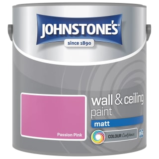 Johnstone's Paint Vinyl Matt Emulsion - Passion Pink 2.5L