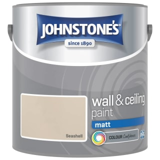 Johnstone's Paint Vinyl Matt Emulsion - Seashell 2.5L