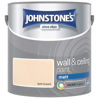 Johnstone's Paint Vinyl Matt Emulsion - Soft Cream 2.5L