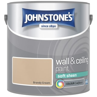 Johnstone's Paint Vinyl Soft Sheen Emulsion - Brandy Cream 2.5L