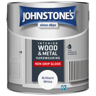Johnstone's Hardwearing Non Drip Gloss Paint 2.5L - Brilliant White