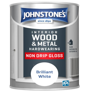 Johnstone's Non Drip Gloss Paint 750ml - Brilliant White
