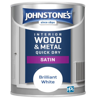 Johnstone's Quick Dry Satin Paint 750ml - Brilliant White