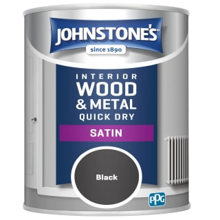 Johnstone's Quick Dry Satin Paint 750ml - Black