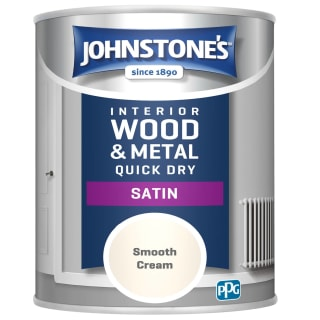 Johnstone's Quick Dry Satin Paint 750ml - Smooth Cream