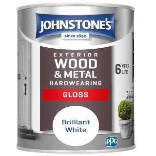 Johnstone's Hardwearing Gloss Paint 750ml - Brilliant White