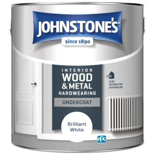 Johnstone's Heardwearing Undercoat Paint 2.5L - Brilliant White