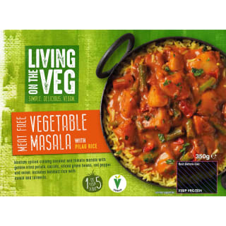 Living on the Veg Vegan Tikka Masala & Rice 350g