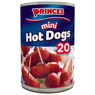Princes 20 Mini Hot Dogs in Brine 400g